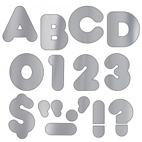 Silver Metallic 2-Inch Casual Uppercase Ready Letters®