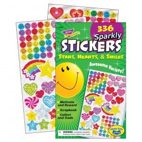 Sparkly Stars, Hearts, & Smiles Sticker Pad, 336 ct