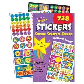 Super Stars & Smiles Sticker Pad, 738 ct