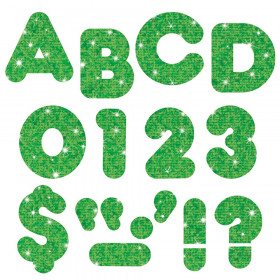 """Green Sparkle 2"""" Casual UC Ready Letters"""