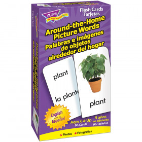Around-the-Home Picture Words (EN/SP) Skill Drill Flash Cards