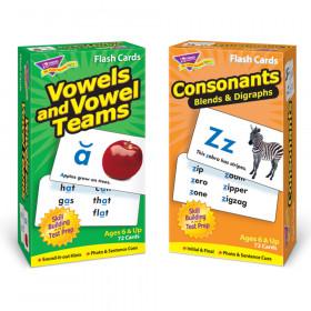 Vowels Consonants Flash Cards Asst Skill Drill