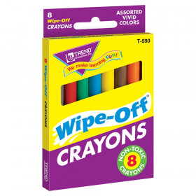 8-Pack Regular Assorted Wipe-Off Crayons
