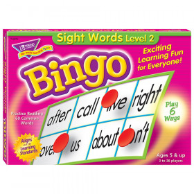 Sight Words Level 2 Bingo Game