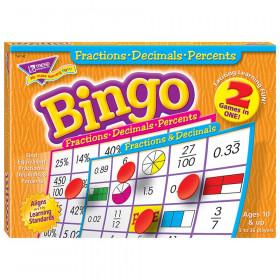 Fractions, Decimals, & Percents Bingo Game