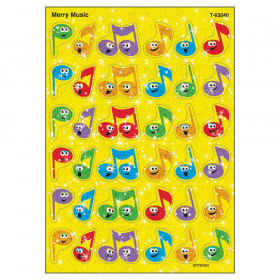 Merry Music Sparkle Stickers, 72 ct