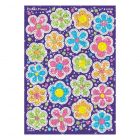 Flower Power Sparkle Stickers-Large, 40 ct