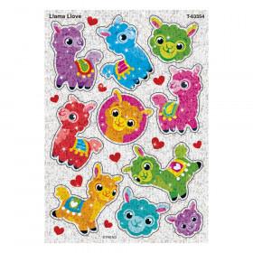 Llama Llove Sparkle Stickers, 20 Count