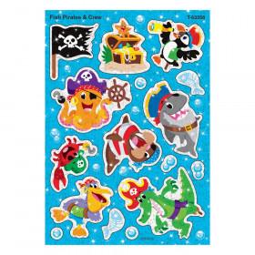 Fish Pirates & Crew Sparkle Stickers, 32 Count