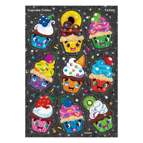 Cupcake Cuties Sparkle Stickers, 18 Count