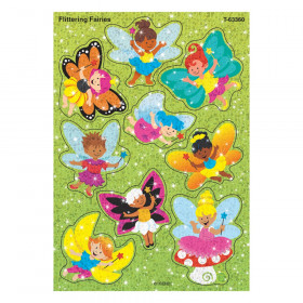 Flittering Fairies Sparkle Stickers, 18 Count