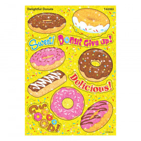 Delightful Donuts Sparkle Stickers, 22 Count