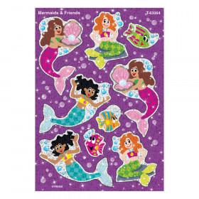 Mermaids & Friends Sparkle Stickers, 18 Count