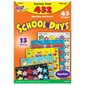 School Days Sparkle Stickers Variety Pack, 432 ct