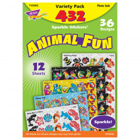 Animal Fun Sparkle Stickers Variety Pack, 432 ct
