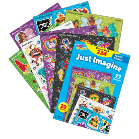 Just Imagine Sparkle Stickers Variety Pack, 234 ct