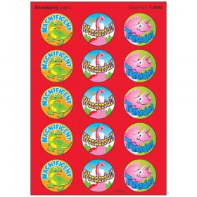Dino Fun/Strawberry Stinky Stickers® – Large Round