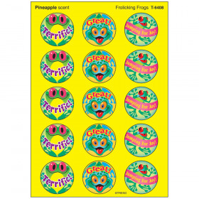 Frolicking Frogs/Pineapple Stinky Stickers® – Large Round