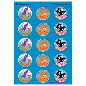 Sea Animals/Blueberry Stinky Stickers® – Large Round