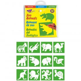 Zoo Animals (EN/SP/FR) Stencils