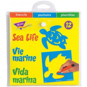Sea Life (EN/SP/FR) Stencils