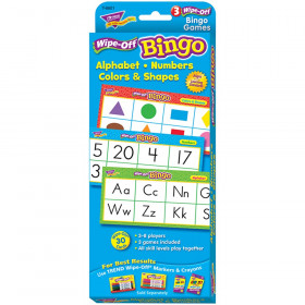 Alphabet, Numbers, Colors & Shapes Wipe-Off® Bingo
