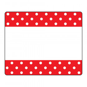 Polka Dots Red Terrific Labels, 36 ct