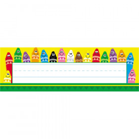 Colorful Crayons Desk Toppers® Name Plates