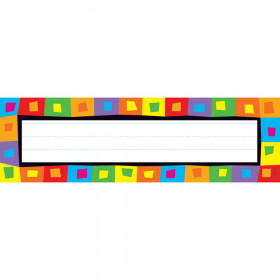 Silly Squares Desk Toppers Name Plates, 36 ct