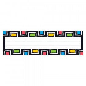 Bold Strokes Rectangles Desk Toppers Name Plates, 36 ct