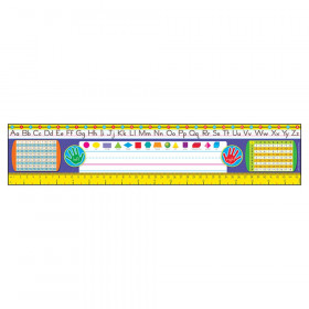 Gr. 2-3 Zaner-Bloser Desk Toppers Ref. Name Plates, 36 ct
