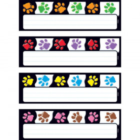 Paw Prints Desk Toppers Name Plates Variety Pack, 32/pkg