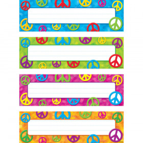 Peace Signs Desk Toppers® Name Plates Variety Pack