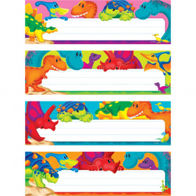 Dino-Mite Pals Desk Toppers Name Plates Var. Pk., 32 ct