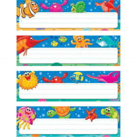 Sea Buddies Desk Toppers Name Plates Var. Pk., 32 ct