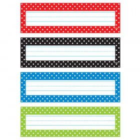 Polka Dots Desk Toppers® Name Plates Variety Pack
