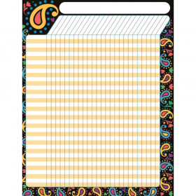 Perfectly Paisley Incentive Chart – Large