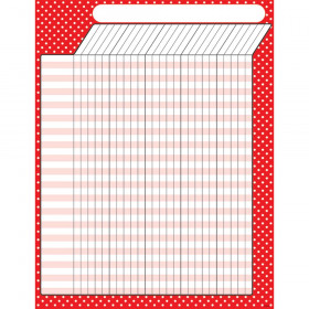 Polka Dots Red Incentive Chart-Large