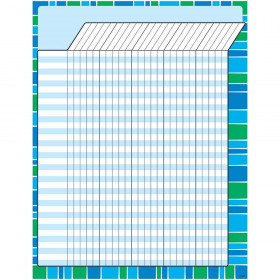 Stripe-tacular Cool Blue Incentive Chart – Large