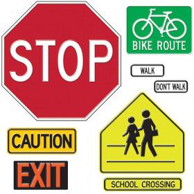 Safety Signs & Symbols Bulletin Board Set