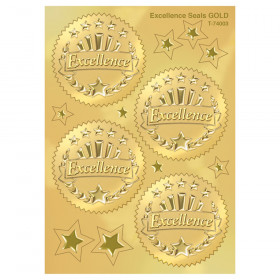 Excellence (Gold) Award Seals Stickers