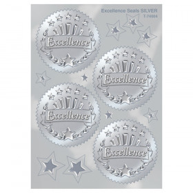 Excellence (Silver) Award Seals Stickers