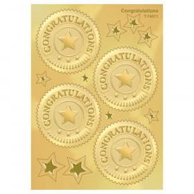 Congratulations (Gold) Award Seals Stickers, 32 ct.