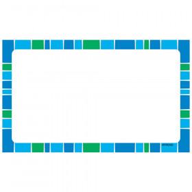 Stripe-tacular Cool Blue Blank Terrific Index Cards™