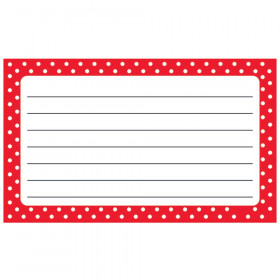 Polka Dots Red Lined Terrific Index Cards™