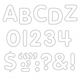 White 1-Inch Letters, Numbers, & Marks STICK-EZE® Stick-On Letters