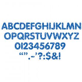 Stick-Eze 1 Letters Numbers Blue Sprkl 184 Upprcs 50 Numrls 90 Mrks