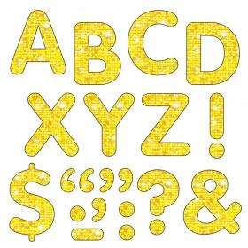"""Yellow Sparkle 2"""" STICK-EZE Sparkle Letters"""