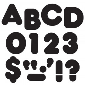 Black 3-Inch Casual Uppercase (EN/SP) Ready Letters®
