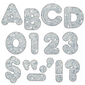Silver Sparkle 3-Inch Casual Uppercase (EN/SP) Ready Letters®